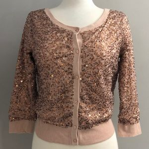 AMERICAN EAGLE OUTFITTERS Sequin Cardigan Sweater